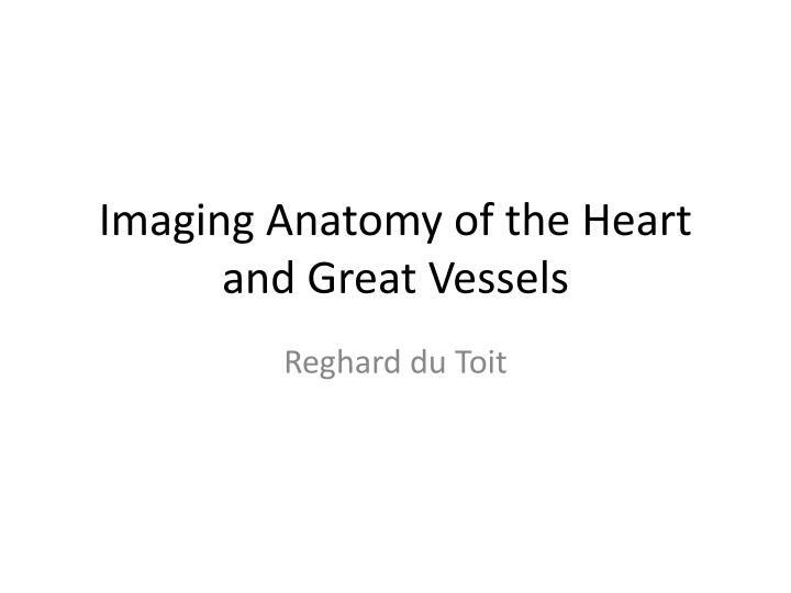 imaging anatomy of the heart and great vessels n.