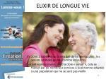 elixir de longue vie