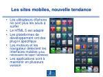 les sites mobiles nouvelle tendance