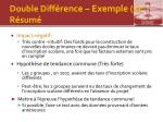 double diff rence exemple 1 r sum