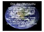 one day matisyahu
