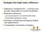 strategies that might make a difference