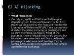 el al hijacking