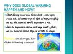 why does global warming happen and how