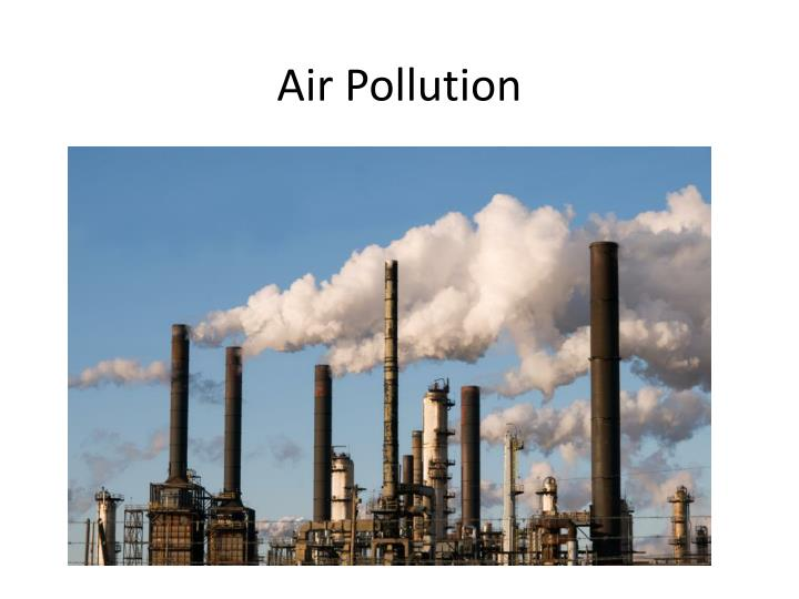 air pollution n.