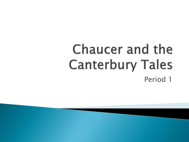 chaucer and the canterbury tales n.