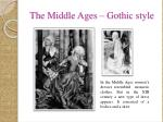 the middle ages gothic style
