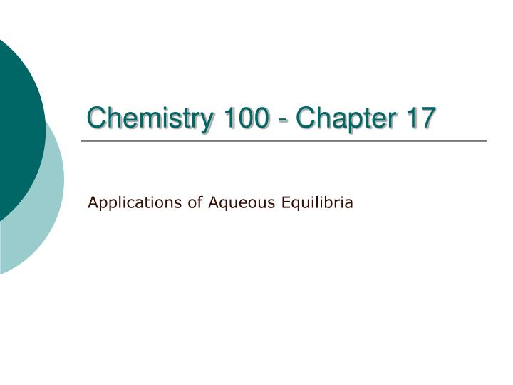 chemistry 100 chapter 17 n.
