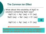 the common ion effect1