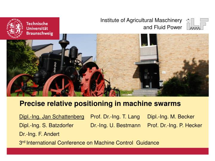 precise relative positioning in machine swarms n.