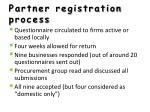 partner registration process