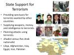 state support for terrorism