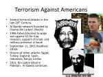 terrorism against americans