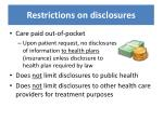 restrictions on disclosures