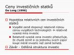 ceny investi n ch statk de long 1996