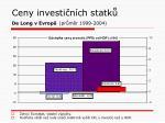 ceny investi n ch statk de long v evrop pr m r 1999 2004