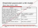 empirick pozorov n a ak model barro sala i martin 1995