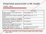 empirick pozorov n a ak model kaldor 1963