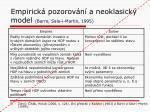 empirick pozorov n a neoklasick model barro sala i martin 1995