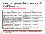 empirick pozorov n a neoklasick model kaldor 1963