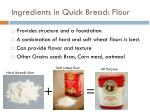 ingredients in quick bread flour