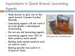 ingredients in quick bread leavening agents