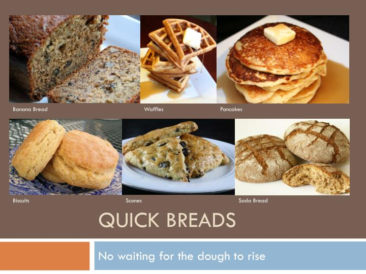 quick breads n.
