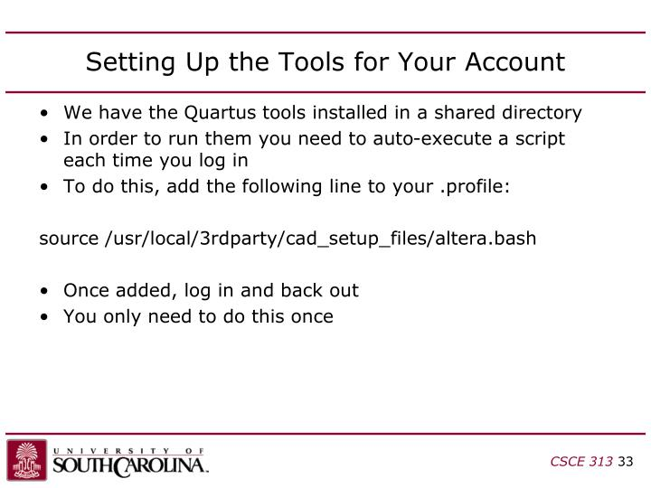 Setting Up the Tools for Your Account