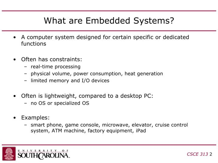 What are embedded systems