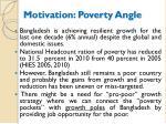 motivation poverty angle