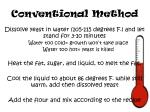 conventional method