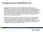 background on medisked llc