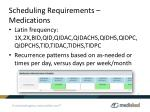 scheduling requirements medications