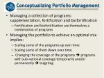 conceptualizing portfolio management