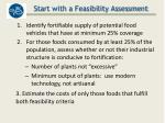 start with a feasibility assessment