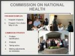 commission on national health