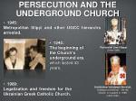 persecution and the underground church