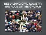 rebuilding civil society the role of the church