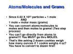 atoms molecules and grams