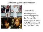 criticism against auteur theory3