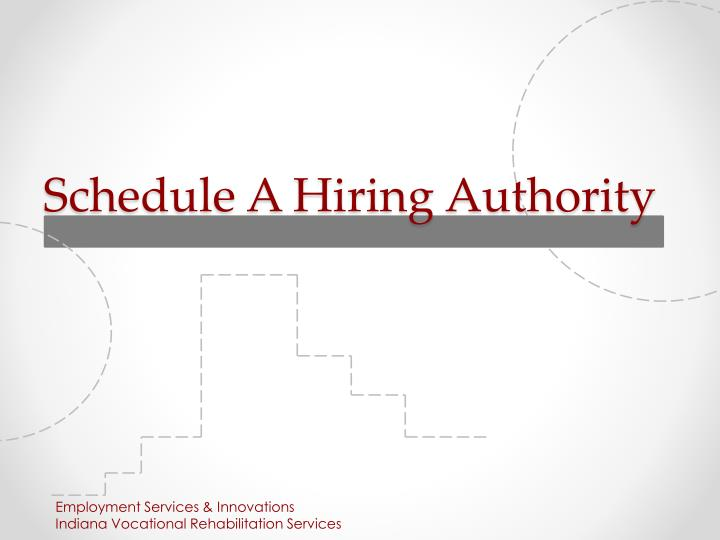 schedule a hiring authority n.