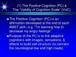 1 the positive cognition pc the validity of cognition scale voc
