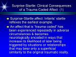 surprise startle clinical consequences of a trauma coded affect 1