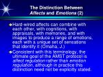 the distinction between affects and emotions 2