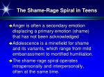the shame rage spiral in teens