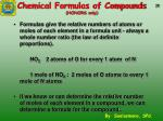 chemical formulas of compounds honors only