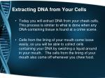 extracting dna from your cells