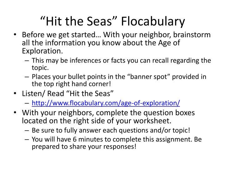 Hit the seas flocabulary