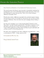 from the interim pastor