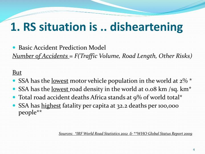 1. RS situation is .. disheartening